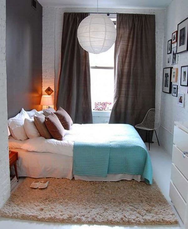 Sehen Sie wie ein kleines Schlafzimmer gestaltet werden kann - fresHouse