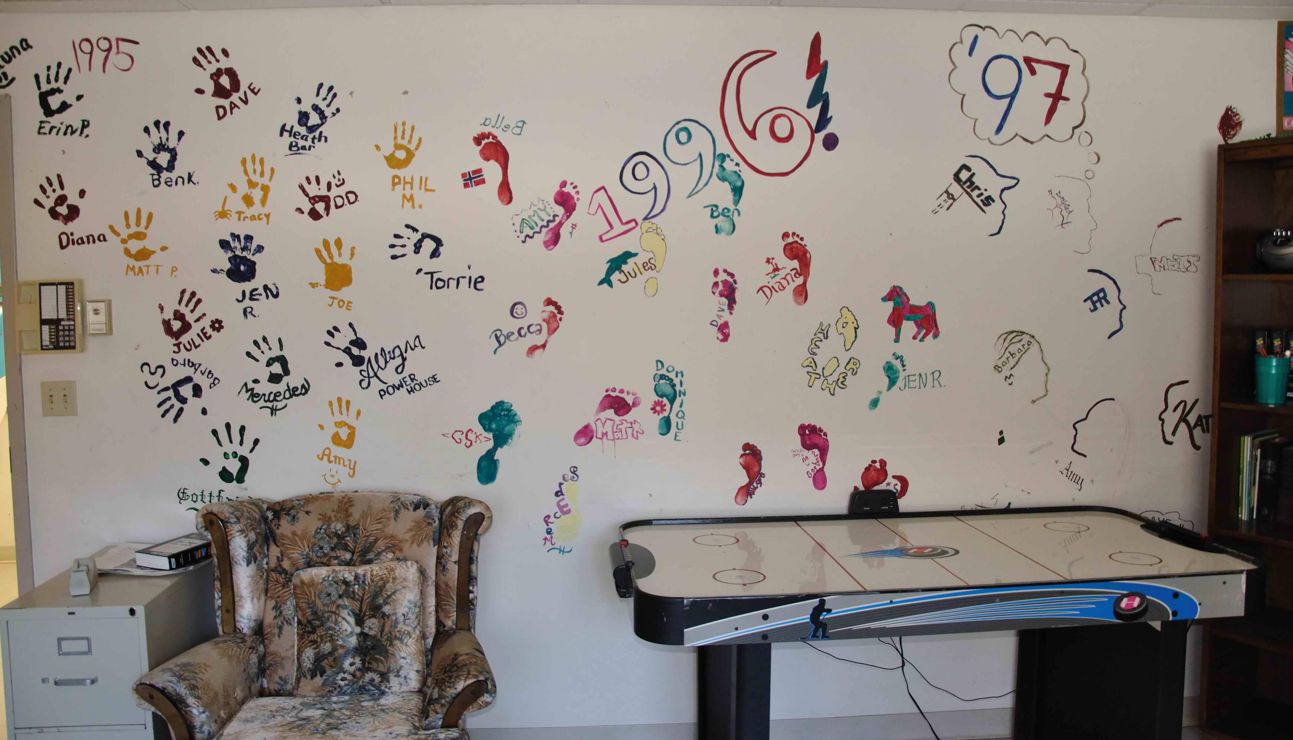 kreative selbstgemachte Wandgestaltung