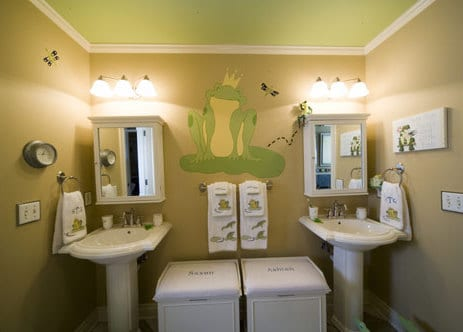 frosch gestaltungsidee fürs bad