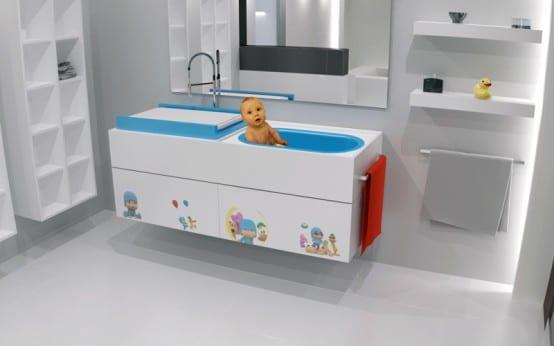waschtisch mit eingebauter baby badewanne