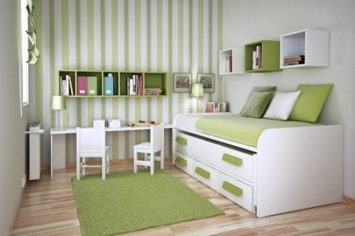 kinderzimmer streichen- grüner kinderzimmer teppich