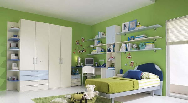 kinderzimmer gr n einrichten idee freshouse. Black Bedroom Furniture Sets. Home Design Ideas