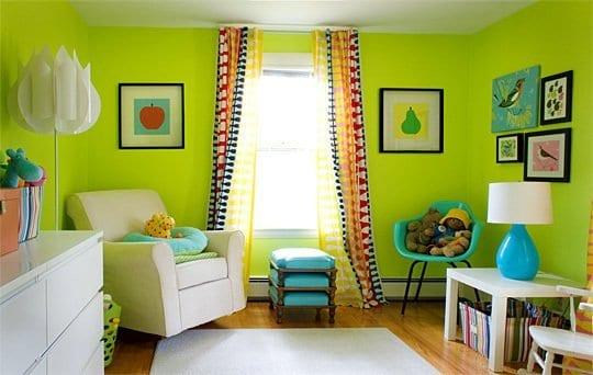 kinderzimmer mit ikea möbeln- grün und blau fürs kinderzimmer