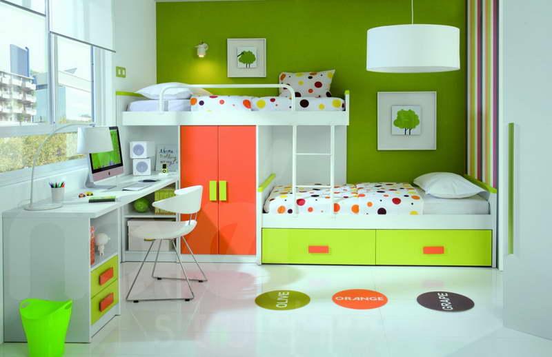Green childrens bedroom ideas
