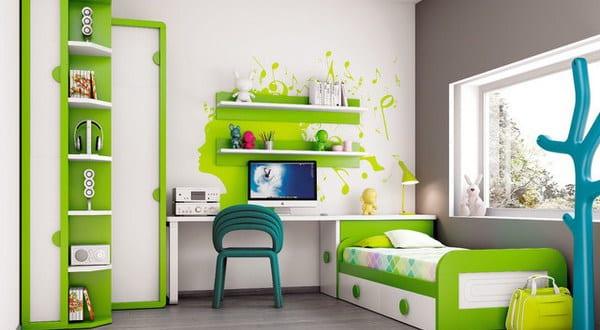 kinderzimmer gr n wandtattoo idee f rs kinderzimmer. Black Bedroom Furniture Sets. Home Design Ideas