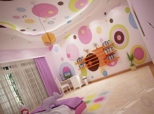 lustige Kinderzimmer-Wandgestaltung