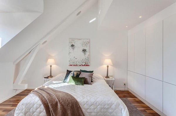 dachraum schlafzimmer in weiß - modernes Schlafzimmer Einrichtung