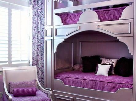 kleines schlafzimmer einrichten in lila - fresHouse