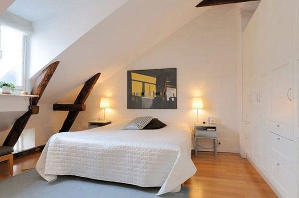 modernes Dach-Schlafzimmer einrichten