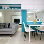 wandspiegel für optische vergrößerung kleines wohnzimmers
