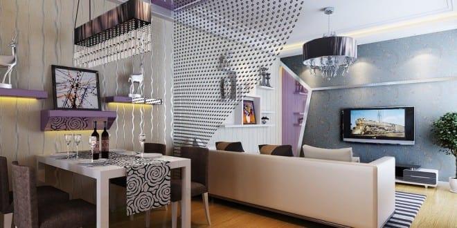 kleines wohnzimmer einrichten wohnungsgestaltung in lila freshouse. Black Bedroom Furniture Sets. Home Design Ideas