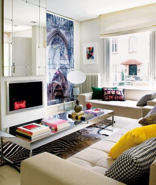 kleines wohnzimmer einrichten - gestaltungsidee für kleine räume, Moderne deko