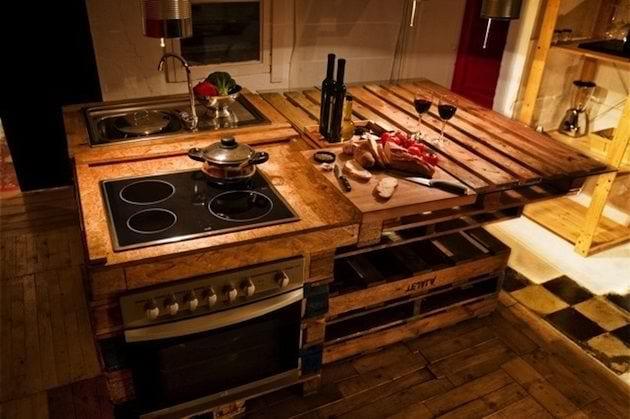 DIY Küchemöbel - Einrichtungsidee aus paletten