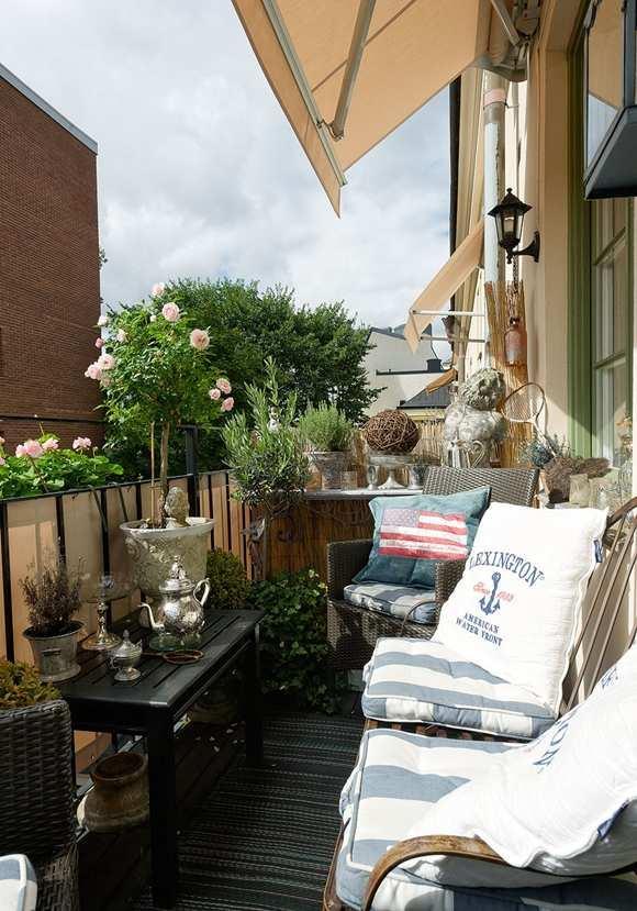 vintage-einrichtung für kleine Balkone