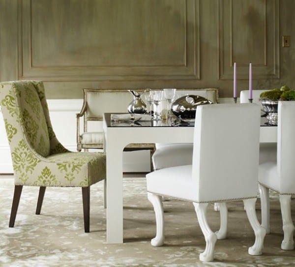 polster Esszimmerstüle - weiße leder stühle