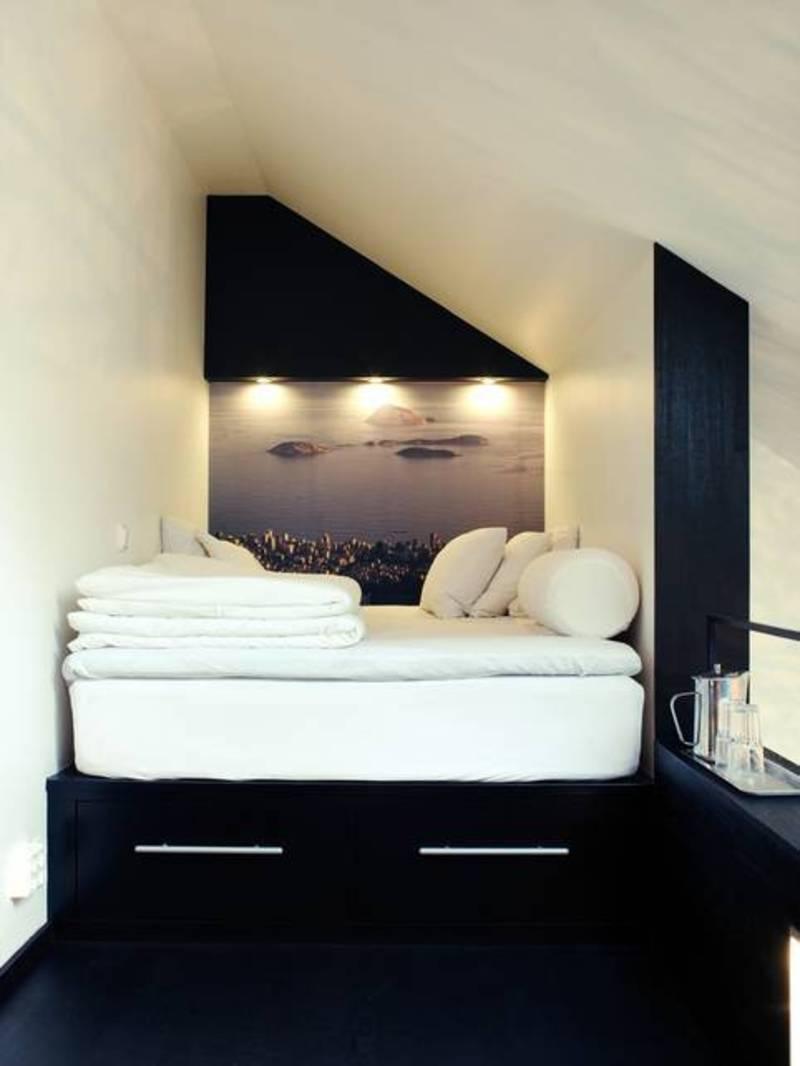 Sehen sie wie ein kleines schlafzimmer gestaltet werden kann ...