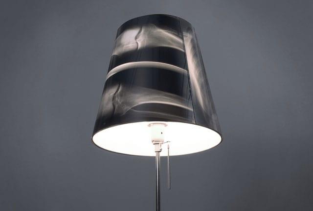 recycling möbel - kreative Lampe aus Rengenbild