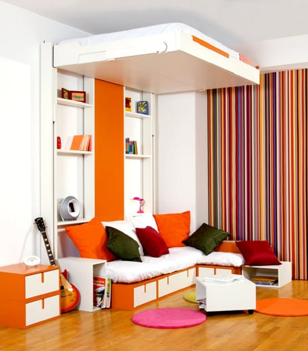 Sehen sie wie ein kleines schlafzimmer gestaltet werden for Kleines jugendzimmer
