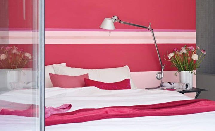 Schlafzimmer wandgestaltungsidee in pink