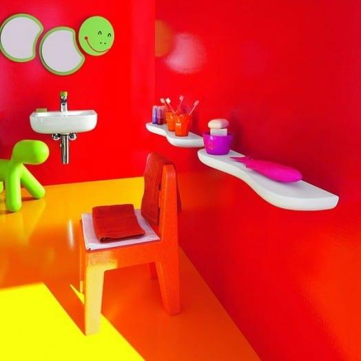 grelle farbe fürs kinder-badezimmer