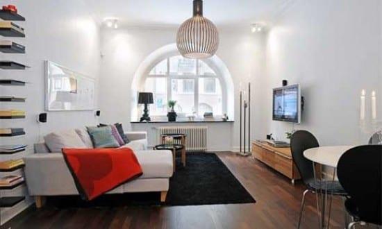 moderne wohnungsgestaltung kleines wohnzimmer idee. Black Bedroom Furniture Sets. Home Design Ideas