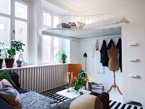 Sehen Sie Wie Ein Kleines Schlafzimmer Gestaltet Werden Kann ... Ideen 1 Zimmer Wohnung Einrichten