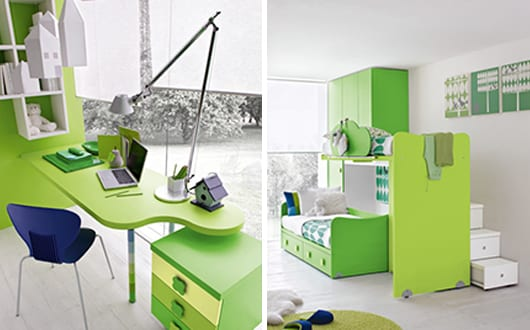 modernes kinderzimmer gr n gestalten freshouse. Black Bedroom Furniture Sets. Home Design Ideas