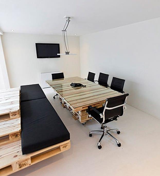 ideen für möbel aus paletten im Büro