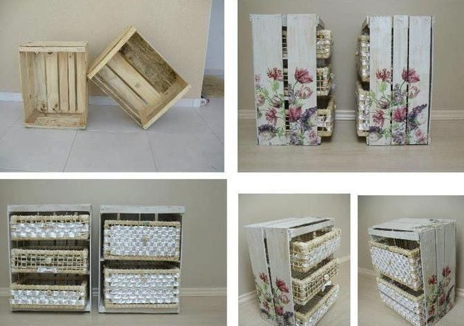 DIY - Schrank mit Schubladen aus Holzkisten