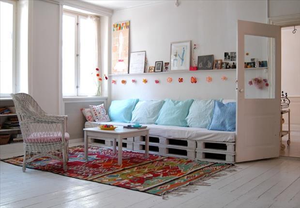 kreative einrichtungsideen für den Wohnraum aus paletten