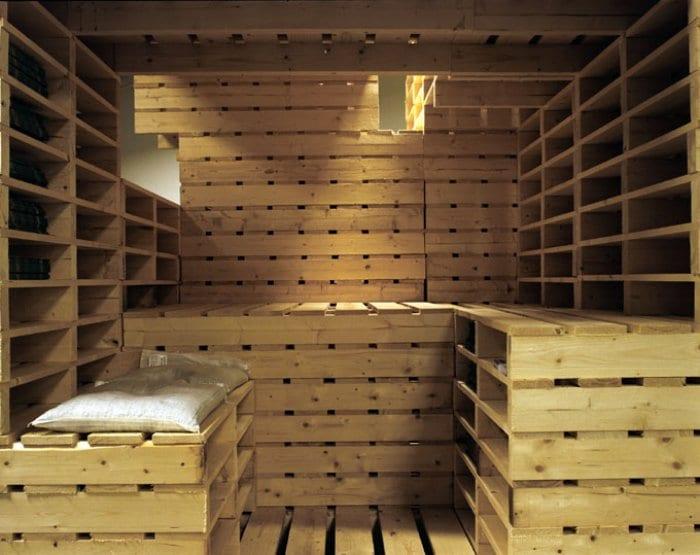 Einrichtungsideen aus europaletten- sauna