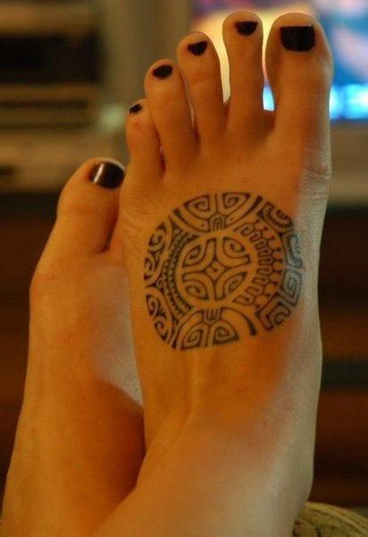 interessante tattoo motive für fuß