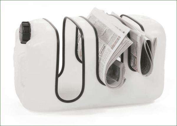 zeitunghalter aus plastikflasche