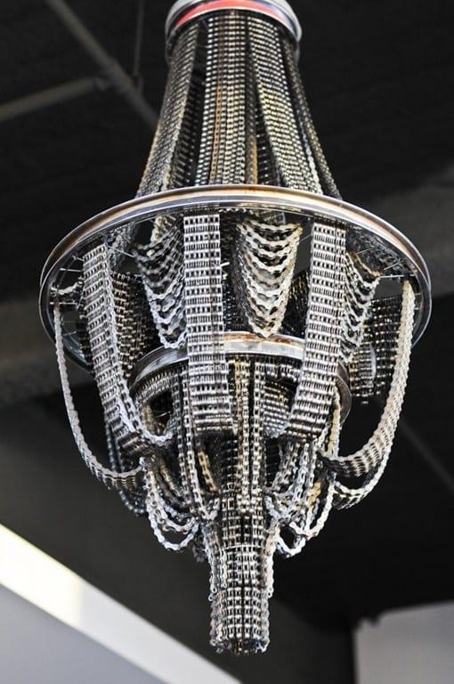 kreative Wohnideen - dekenlampe aus Fahrradketten