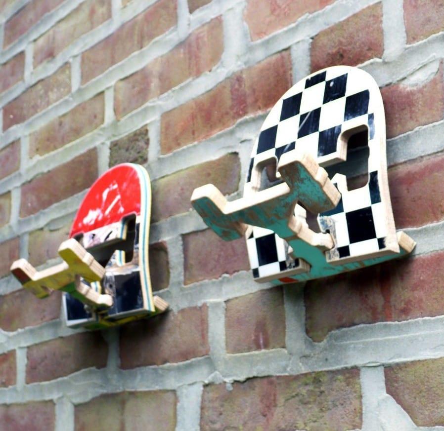 kreative wandhacken aus skateboard