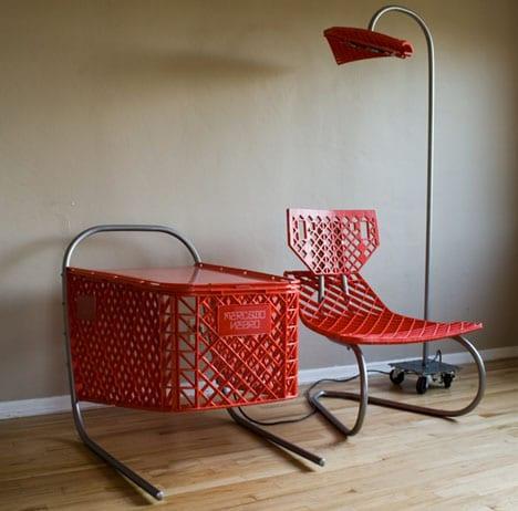 wohnideen mit recycling möbeln