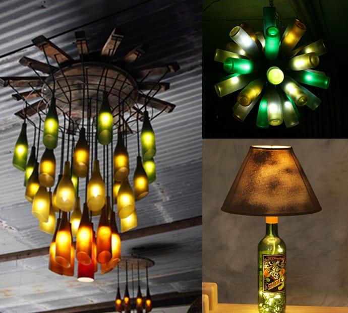 interessante Wohnideen - Lampeideen aus weinflaschen