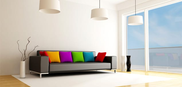 minimalistische wohneinrichtungsidee