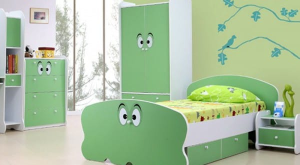sch ner wohnen kinderzimmer in gr n freshouse. Black Bedroom Furniture Sets. Home Design Ideas
