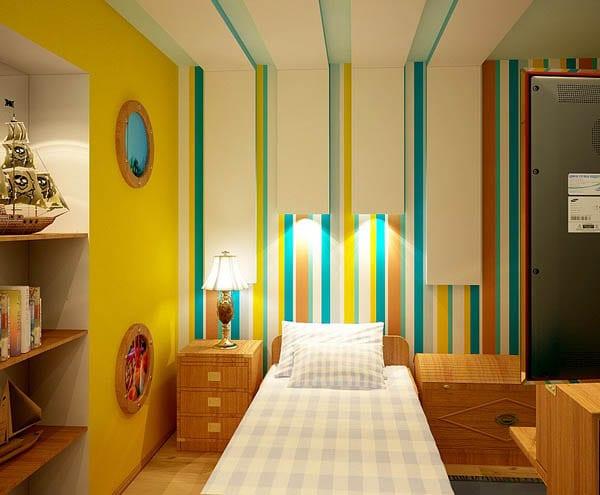 frische Wand Streichen Idee fürs Kinderzimmer