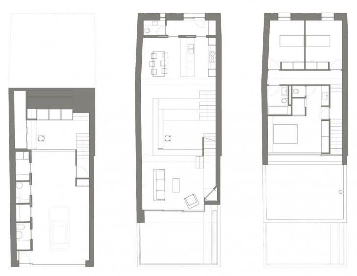 kreative Hausteilung minimalistisches Hauses