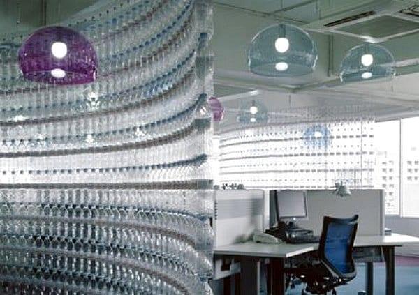 petßflaschen dekorationsideen fürs Büro