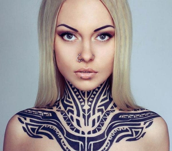 Interessante tattoo ideen freshouse for Neck tattoos for females