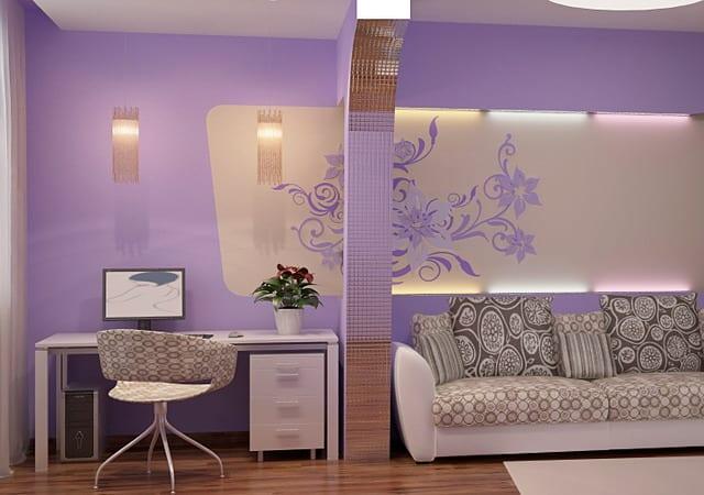 moderne Wohnzimmer-Farbeinrichtung