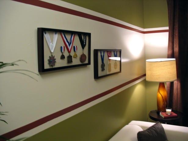 Wohnzimmer Wandgestaltungsidee Mit 3 Farben