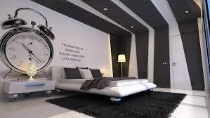 schlafzimmer gestaltungsidee in weiß und schwarz