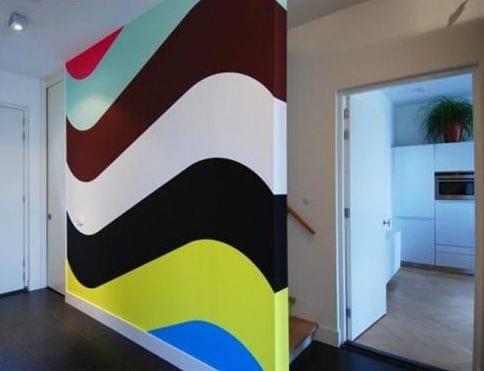 interessante Wandgestaltung fürs Wohnzimmer