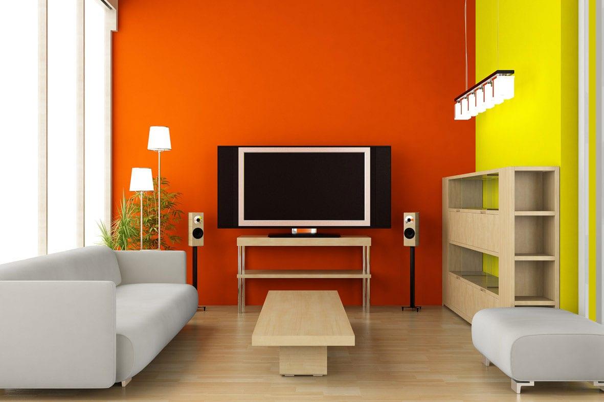 Farbgestaltung in gelb und orange