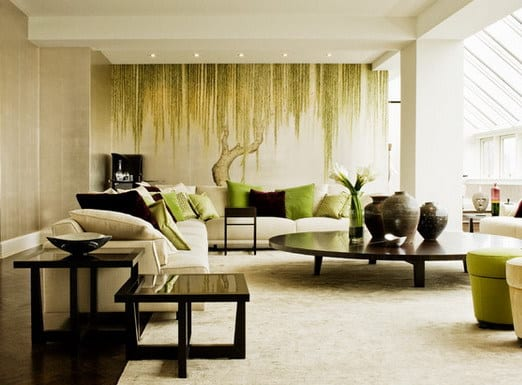 Wand streichen ideen kreative wandgestaltung freshouse for Asian inspired living room designs