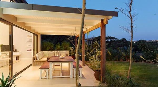 berdachte terrasse wei freshouse. Black Bedroom Furniture Sets. Home Design Ideas